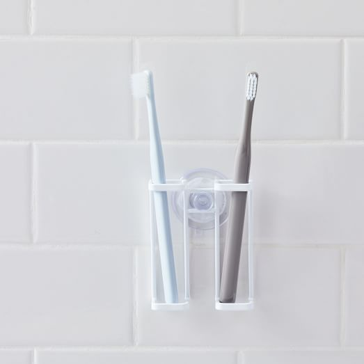 Suction Cup Toothbrush Holder - White | west elm
