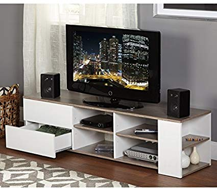 Amazon.com: Modern Tv Stands for Flat Screens White Entertainment