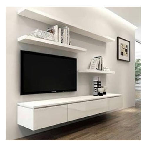 Wall Mounted Wood White Modern TV Rack, Rs 600 /square feet, Purport
