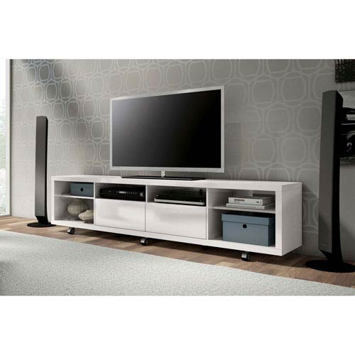 Manhattan Comfort Cabrini White Gloss Tv Stand 15384 | Bellacor