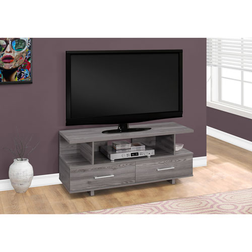 Hawthorne Ave 48 Inch Grey Tv Stand With 2 Storage Drawers I 2608