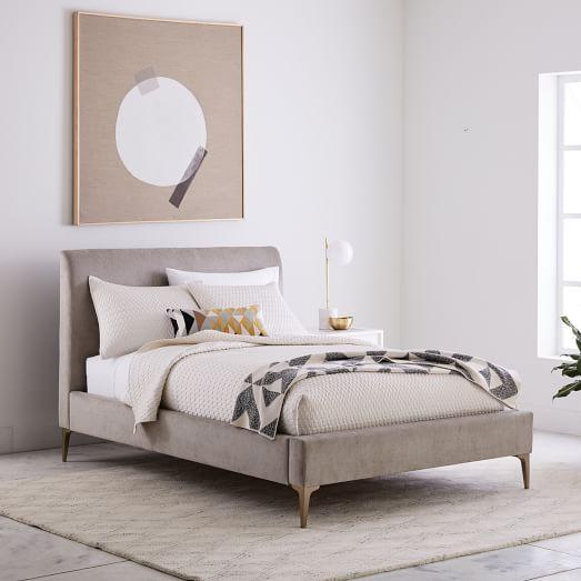 Andes Deco Upholstered Bed | west elm