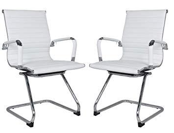 Amazon.com: Classic Replica visitors chair in WHITE PU leather