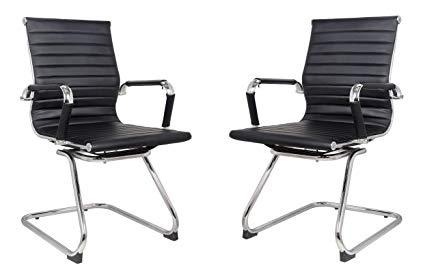 Amazon.com : Classic Replica visitors chair in BLACK PU leather