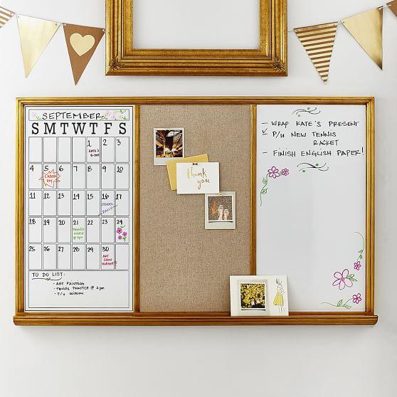 Study Wall Board, Gold Triple   PBteen