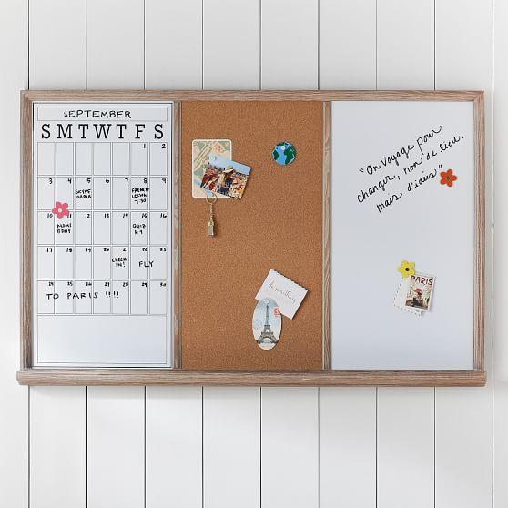 Study Wall Board, Smoked Gray Triple   PBteen