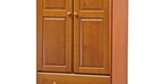 Amazon.com: New! 100% Solid Wood 32u201d-Combo Wardrobe/Armoire/Closet/3