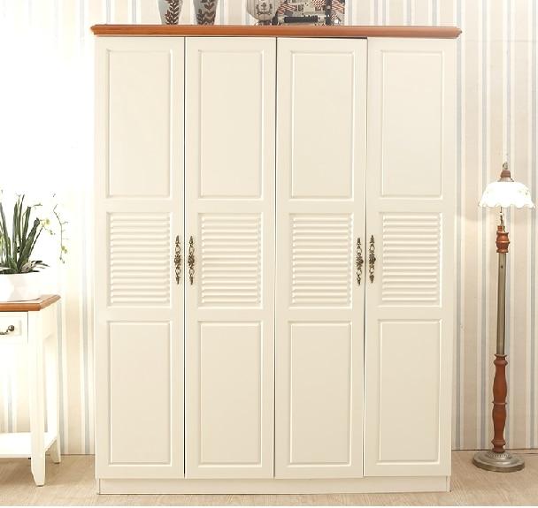 Mediterranean wood panels combine four wardrobe closet four modern