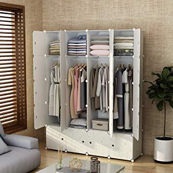 Amazon.com: MAGINELS Closet Shelves Wardrobe Clothes Organizer Cube