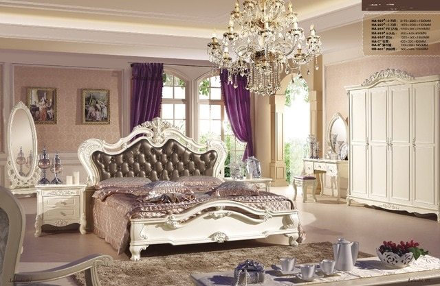 High quality Oak solid wood and durable Bedroom Furniture sets with