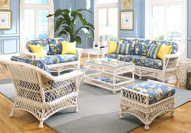 6 Piece Harbor Beach Wicker Furniture Set