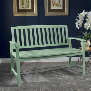 The wooden bench: Robust and comfortable