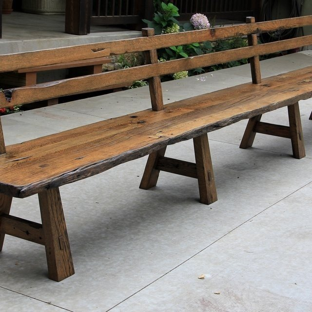 Wood Dining Bench With Back - Ideas on Foter