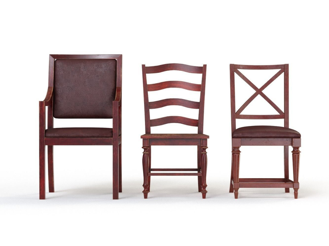 Wooden Chairs Collection 3D model | CGTrader