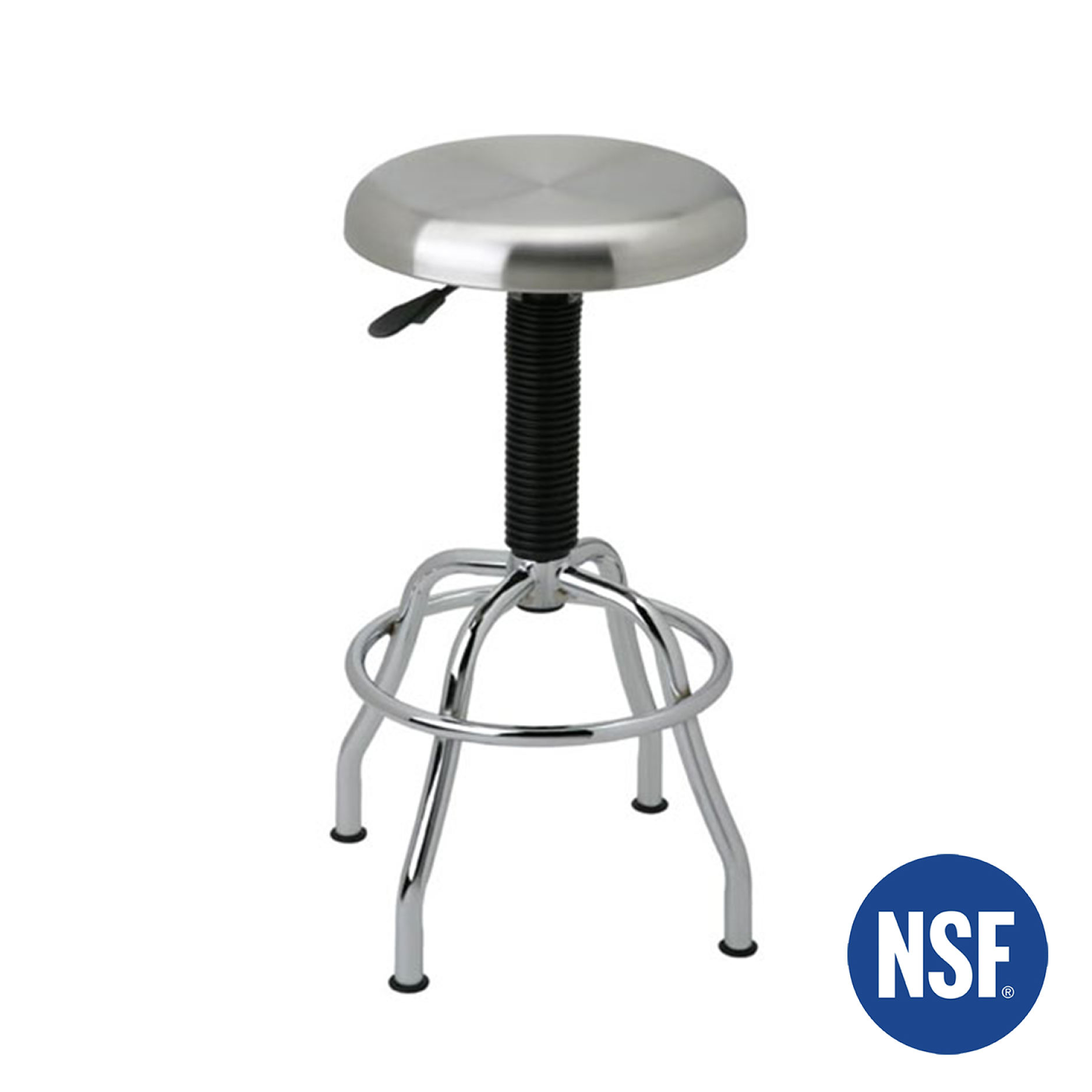 Work stool with ergonomic properties