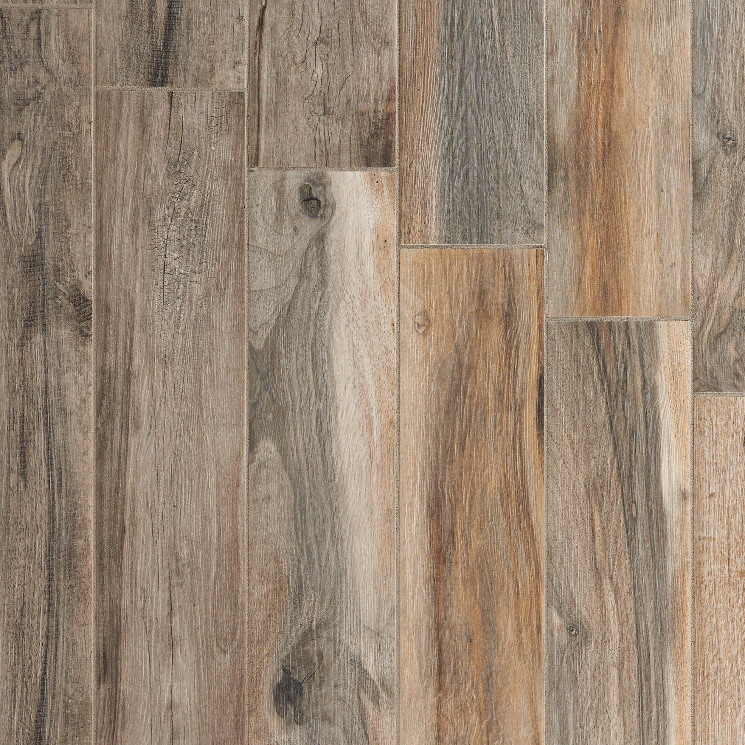 Soft Ash Wood Plank Porcelain Tile - 6 x 40 - 100105923 | Floor and