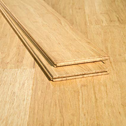 Ambient Bamboo - Bamboo Flooring Sample, Color: Natural Wide Plank