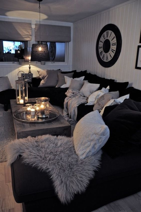 Black And White Living Room Interior Design Ideas | Home Sweet Home
