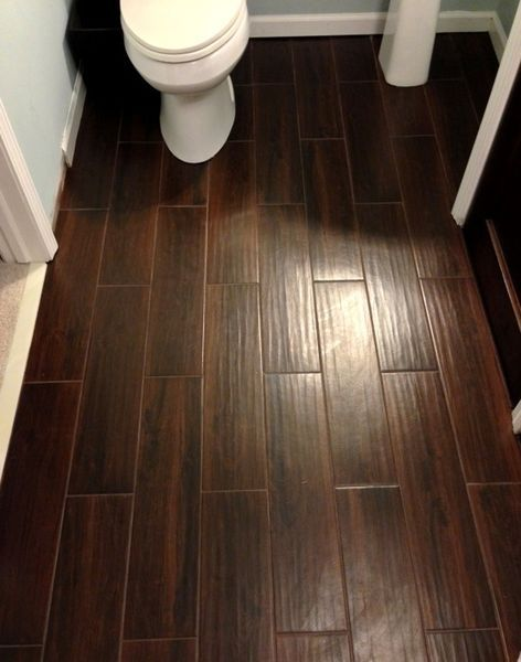 linoleum that looks like wood; plan for the trailer | Home Decor