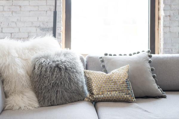 Fur Pillow Photos, Design, Ideas, Remodel, and Decor - Lonny