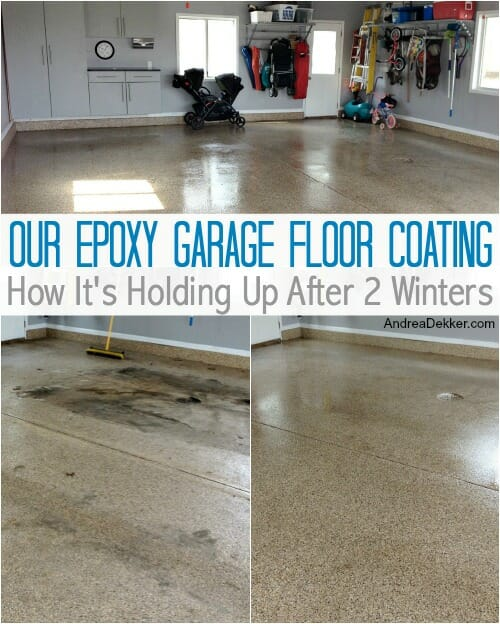Our Epoxy Garage Floor Coating: How It's Holding Up After 2 Winters