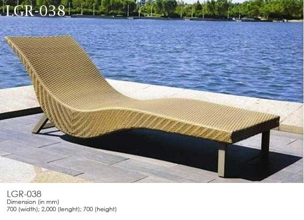Synthetic Rattan Wicker Sunbed - LEOLA FURNITURE-Outdoor Furniture