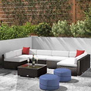 White Rattan Furniture | Wayfair