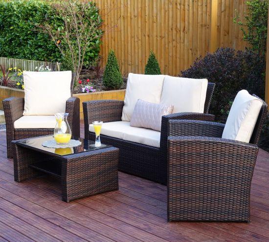 China Metal Frame Rattan Garden Sofa Outdoor Furniture - China
