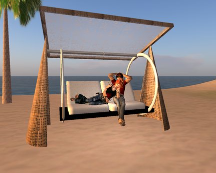 Second Life Marketplace - HOLLYWOOD SWING FOR GARDEN/BEACH/TERASSE