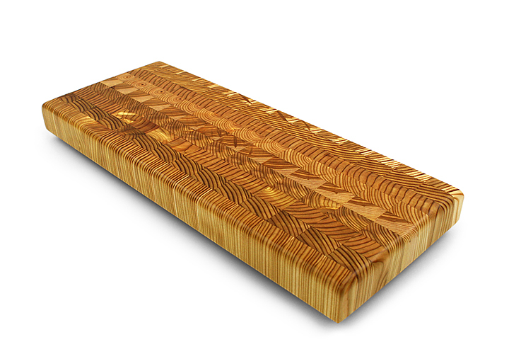 Larch Wood Double Cheese Serving Board