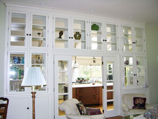 Living Room Cabinets with Glass Doors Design