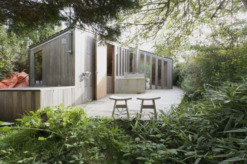 Contemporary Garden House Made of Poplar Wood u2013 Poplar Garden House