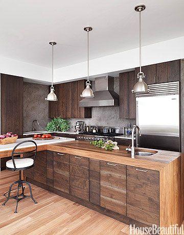 A Dark and Handsome Kitchen | Classy Kitchens | Pinterest | Walnut