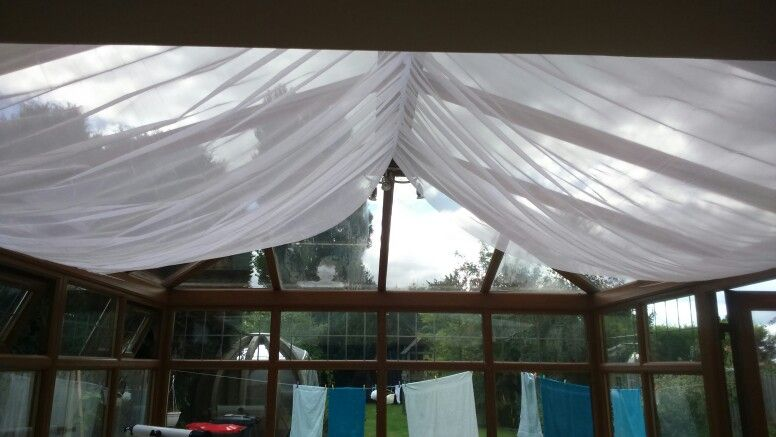 Conservatory ceiling drapes   Mudroom Madness   Pinterest
