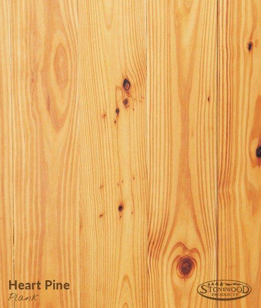 Heart Pine Flooring Plank - Wood Floors | StonewoodProducts.com