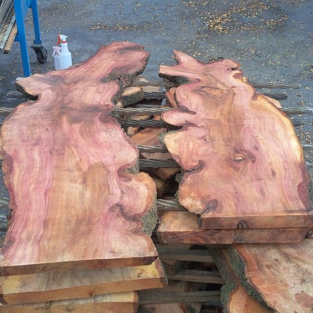 New Stock -- Rare local #Plum wood! It's fresh sawn and green