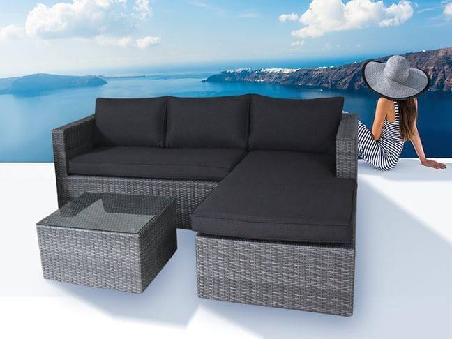 Poly rattan garden furniture - Poly rattan lounge set Modularo