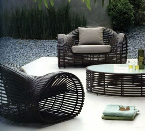 25 Outdoor rattan furniture - Lounge furniture made of rattan and