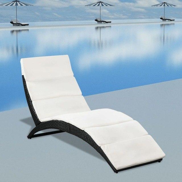 Garden furniture – polyrattan sun loungers