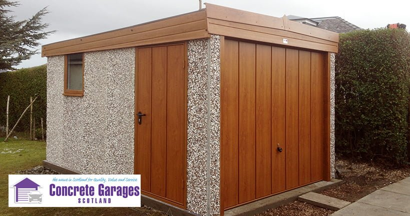 East Lothian prefabricated concrete garage installer