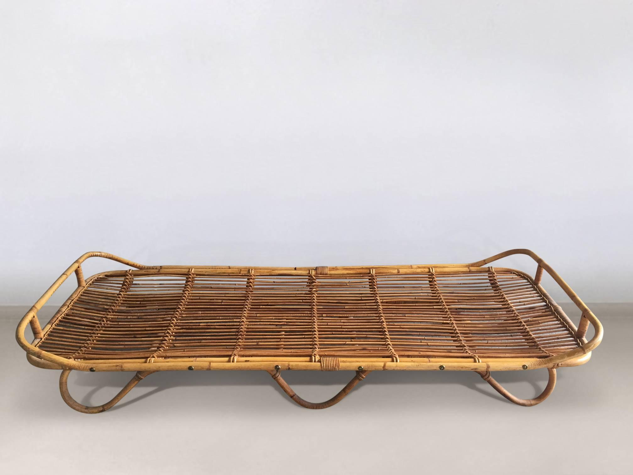 Midcentury Bohemian, Rattan Bed, Daybed, 1950s at 1stdibs