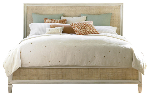 Willow Bay King Size Rattan Bed - Farmhouse - Panel Beds - by