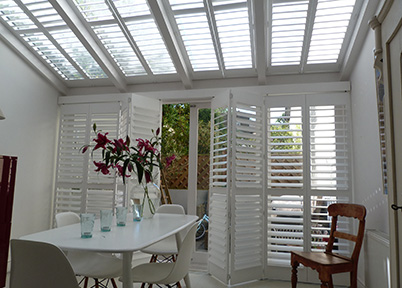 Conservatory Shutters London | Plantation Shutters