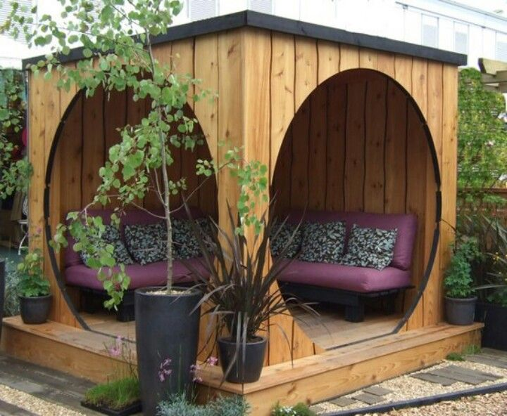 Neat idea for a backyard-garden sitting area | DIY - PROJECTS 2