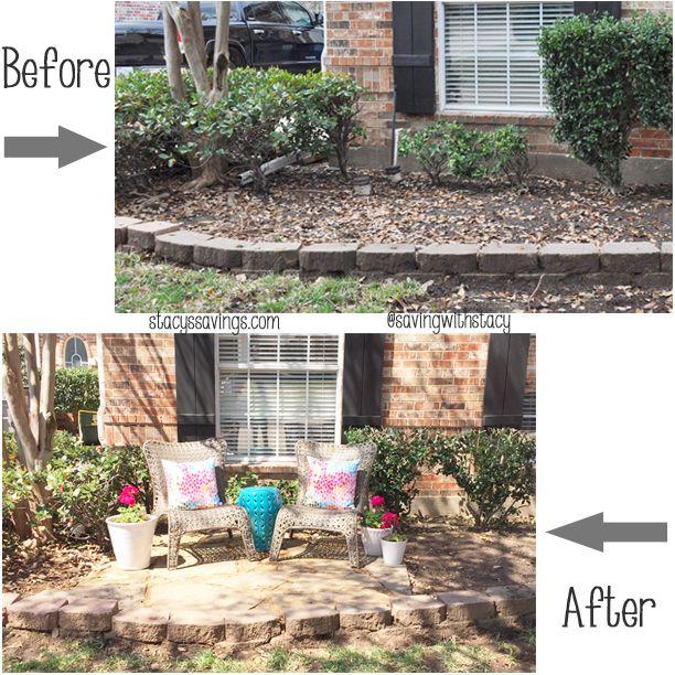 A Stylish & Useful DIY Front Yard Patio! | Frontyard | Pinterest