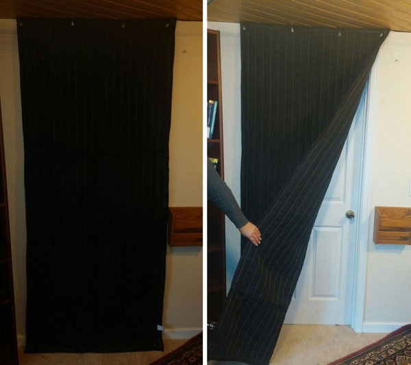 Soundproofing Door (how much, Lowes, curtains, paint) - House