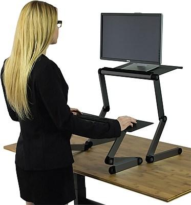 Uncaged Ergonomics WorkEZ Standing Desk Black (WESDb) | Staples