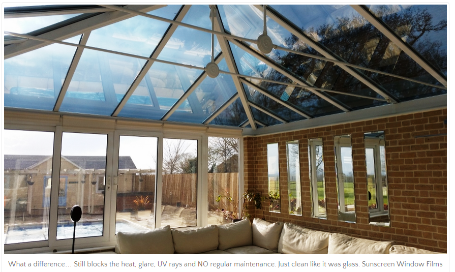 Conservatory Roof Blinds - Sunscreen Window Films