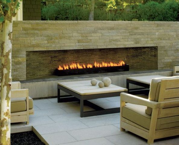 33 Gorgeous Outdoor Fireplaces That Make Your Terrace Inviting