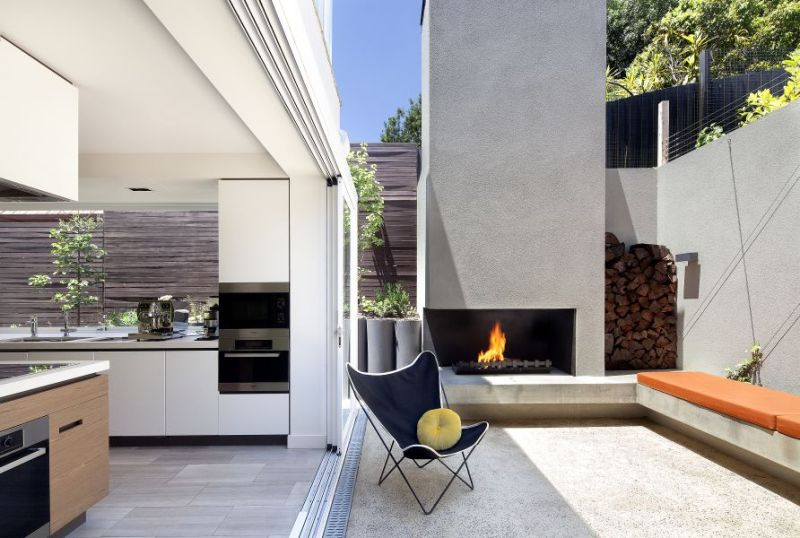 The 40 most beautiful terraces with fireplaces